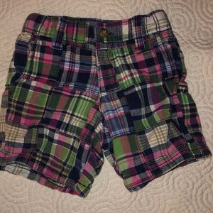 Janie and Jack Plaid Shorts- Size 12-18 months
